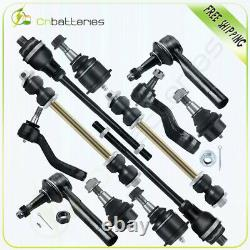 12x Front Ball Joints Tie Rod Ends Sway Bars Fits Silverado 1500 Suspension Kits