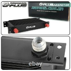 16 Row Engine Oil Cooler Kit + Male Sandwich Plate adapter Fit For LS1 LS2 LS3