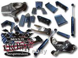 2-4 Lowering Drop Kit Spindles Flip Kit Fits 2007-2018 Silverado Sierra 1500