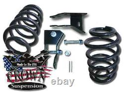 2 Rear Lowering Coil Springs Drop Kit with Shock Ext. Fits 2007-2014 GMC Yukon XL