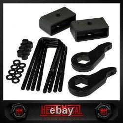 3 Front + 2 Rear Level Lift Kit Fits Silverado Sierra 1500HD / 2500HD / 3500HD