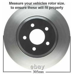 305mm Front Brake Rotors + Brake Pads for Chevy Silverado 1500 Tahoe GMC Yukon