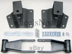 4 Drop Kit Rear Shackles & Hangers Fits 1999-06 Chevy Silverado GMC Sierra 1500