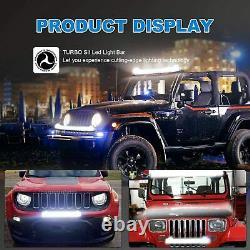 52 LED Light Bar Curved +22'' Lamp+ 4x Pods Kit For Chevy Silverado/GMC Sierra