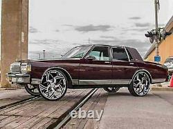 77-90 Box Chevy Donk Caprice Lift Kit fit 28 26 24 Rims Tires on Impala