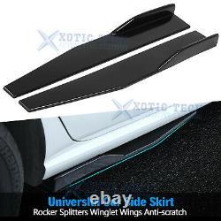 7pcs PKG Glossy Black Front Bumper Lip Spoiler /Rear Lip/ Side Skirt Splitter