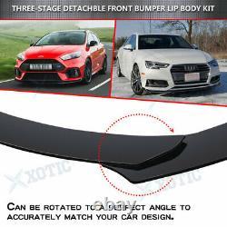 7x ABS Front Bumper Spoiler + Side Skirt Splitter + Rear Lip Canard Body Kit US