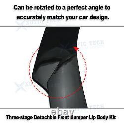 7x Front Bumper Lip Spoiler Diffuser Side Skirt Rear Canard Diffuser Body Pkg