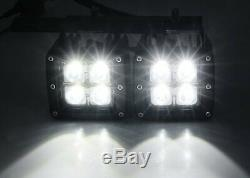 80W Dual LED Pods with Foglight Bracket/Wirings For Avalanche Silverado 1500 2500