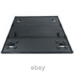 Black 6.6Ft Bed Hard Tri-Fold Tonneau Cover Kit Fit For 88-07 Silverado 1500