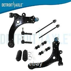 Chevy Impala Grand Prix Monte Carlo Lower Control Arm Tie Rod Sway Bar 10pc Kit