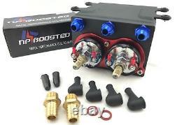 Dual Fuel Pumps 600lph & Surge Tank External Inline Fits Bosch 044 1000hp