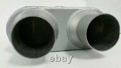 Dual Pipe Conversion Exhaust Kit fits GMC Chevy truck 99 08 Short muffler 2.5