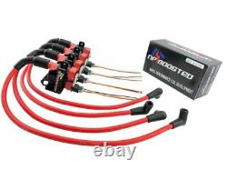 FITS LQ9 D585 Ignition Coil Packs & Bracket + 10mm Wires 4 cyl Universal Kit