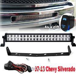 Fit 07-13 Chevy Silverado 1500/2500/3500 Hidden Bumper 20'' Light Bar Mount Kits