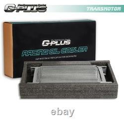 Fit For LS1 LS2 LS3 25 Row GM Engine Oil Cooler Kit + Sandwich Plate Kit + Fan