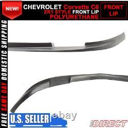 Fits 05-13 Chevy Corvette C6 Base Front Bumper Lip Splitter Spoiler Kit PU