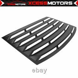 Fits 10-15 Chevrolet Camaro Black Rear Window Louver ABS Kit