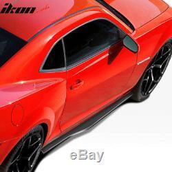 Fits 10-15 Chevy Camaro Ikon Style Side Skirts Body Kit Polypropylene (PP)
