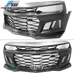 Fits 14-15 Chevy Camaro Coupe IKON ZL1 Front Bumper Conversion Cover PP