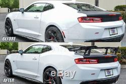 Fits 16-Up Chevrolet Camaro ZL1 1LE Style PRIMER BLACK Rear Trunk Wing Spoiler