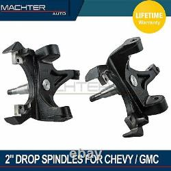 Fits 1988-1998 Chevy c1500 2500 GMC Yukon 2WD ONLY 2 Drop Spindle Lowering Kit