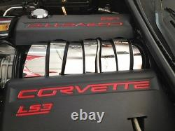 Fits Corvette C6 2008-2013 7Pc Polished Stainless INTAKE MANIFOLD COVER
