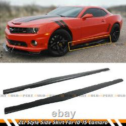 For 2010-15 Chevy Camaro LT SS 1LT Matt Black Side Skirt Extensions Splitter