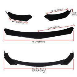 For Chevy Camaro Chevrolet Front Bumper Lip Splitter + Strut Rod Support Bars US