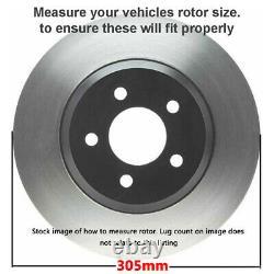 Front Drilled Rotors + Brake Pads for Chevy Tahoe Suburban 1500 GMC Safari Yukon