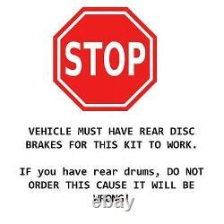 Front Drilled Slotted Brake Rotors + Brake Pads Chevy GMC Trucks Brakes Kit
