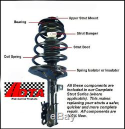 Full Set 2 Front Complete Struts With Springs + 2 Rear Shocks Fit Silverado