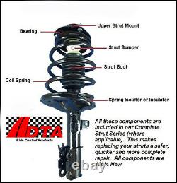 Full Set 2 Front Complete Struts With Springs Mounts + 2 Rear Shocks Fit Aveo