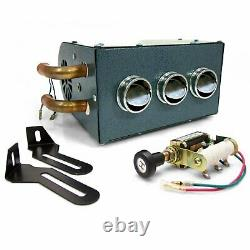 Gobi Compact Heater Deluxe Under Dash Kit 12V truck Muscle Car Fits Ford Hot Rod