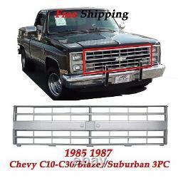 Grill & Head Light Door, Truck Silverado Suburban, 86,88 Fits 1985-1987 Chevy 3PC
