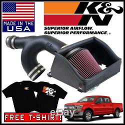 K&N AirCharger Cold Air Intake System Kit fits 2015-2019 Ford F-150 2.7L V6