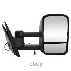 Power Heated Tow Side Mirror Pair for 2007-2012 2013 GMC Sierra Silverado 1500