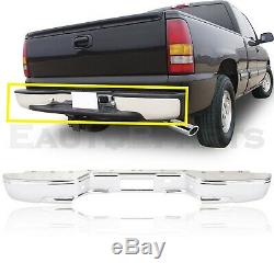 Rear All Chrome Step Bumper Fit 99-07 Silverado Sierra Without Sensor Hole New