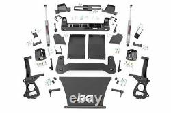 Rough Country 6 Lift Kit (fits) 19-21 Chevy Silverado 1500 N3 Shocks Knuckles