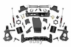 Rough Country 7 Lift Kit (fits) 2014-2018 Silverado Sierra 1500 4WD Suspension