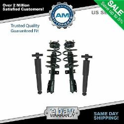 Set 2 Front Complete Struts & 2 Rear Shocks 4pc Fits GMC Acadia Chevy Traverse +