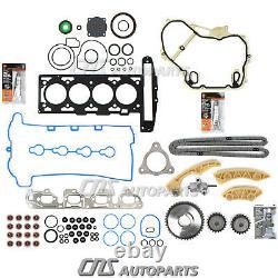 Timing Chain Kit Full Gasket Set Fits 07-08 Chevrolet Cobalt G5 HHR Malibu 2.2L