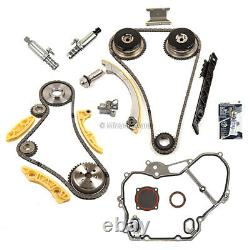 Timing Chain Kit VCT Selenoid Actuator Gear Cover Gasket Fit GM Ecotec 2.2L 2.4L