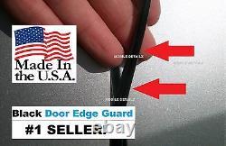 Trim Protection (USA made!)(4 Door Kit) BLACK DOOR EDGE GUARDS (Fits) CHEVROLET
