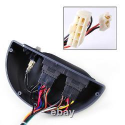 Universal 12V Power Window Lock Kit 4 Rocker Switch Fit for 4 Doors Car