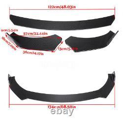 Universal Carbon Look Front Bumper Lip Body Kit Spoiler For Honda BMW Benz Mazda