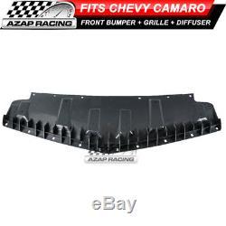 10-13 Zl1 Pp Pare-chocs Avant Kit + Grille + Pare-chocs Lèvres Convient Chevy Camaro Diffuseur