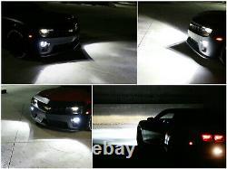 20w Cree Led Halo Anneau Drl / Phares Anti-brouillard Avec Cadrans Câblage Pour 2010-13 Chevy Camaro