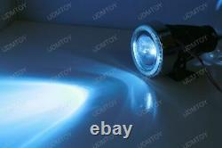 3 Lampes Légères De Brouillard De Projecteur Avec 40-led Halo Angel Eyes Anneaux + 10000k Hid Combo