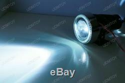 3 Projecteur Antibrouillard Lampes À 40-led Halo Angel Eyes Rings + 8000k Hid Combo